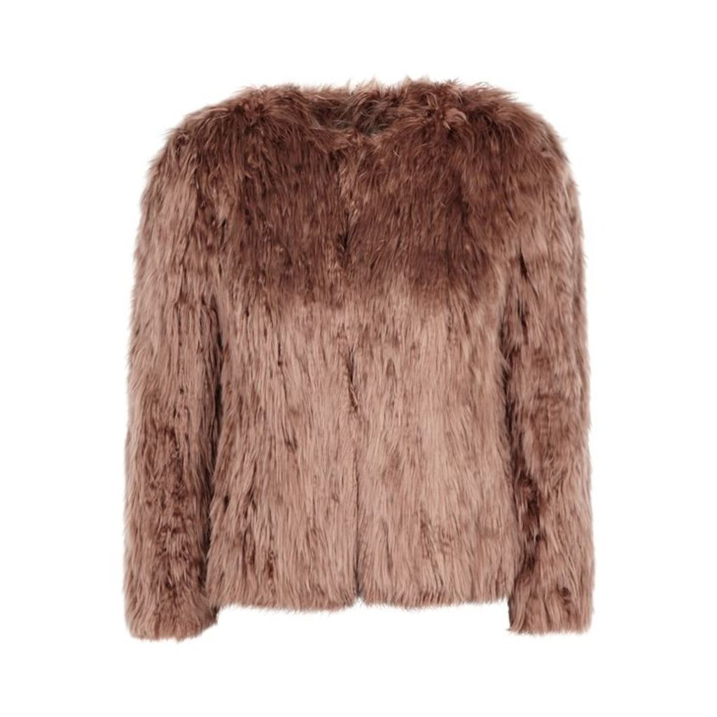Isabel Marant Agga Brown Alpaca Fur Jacket