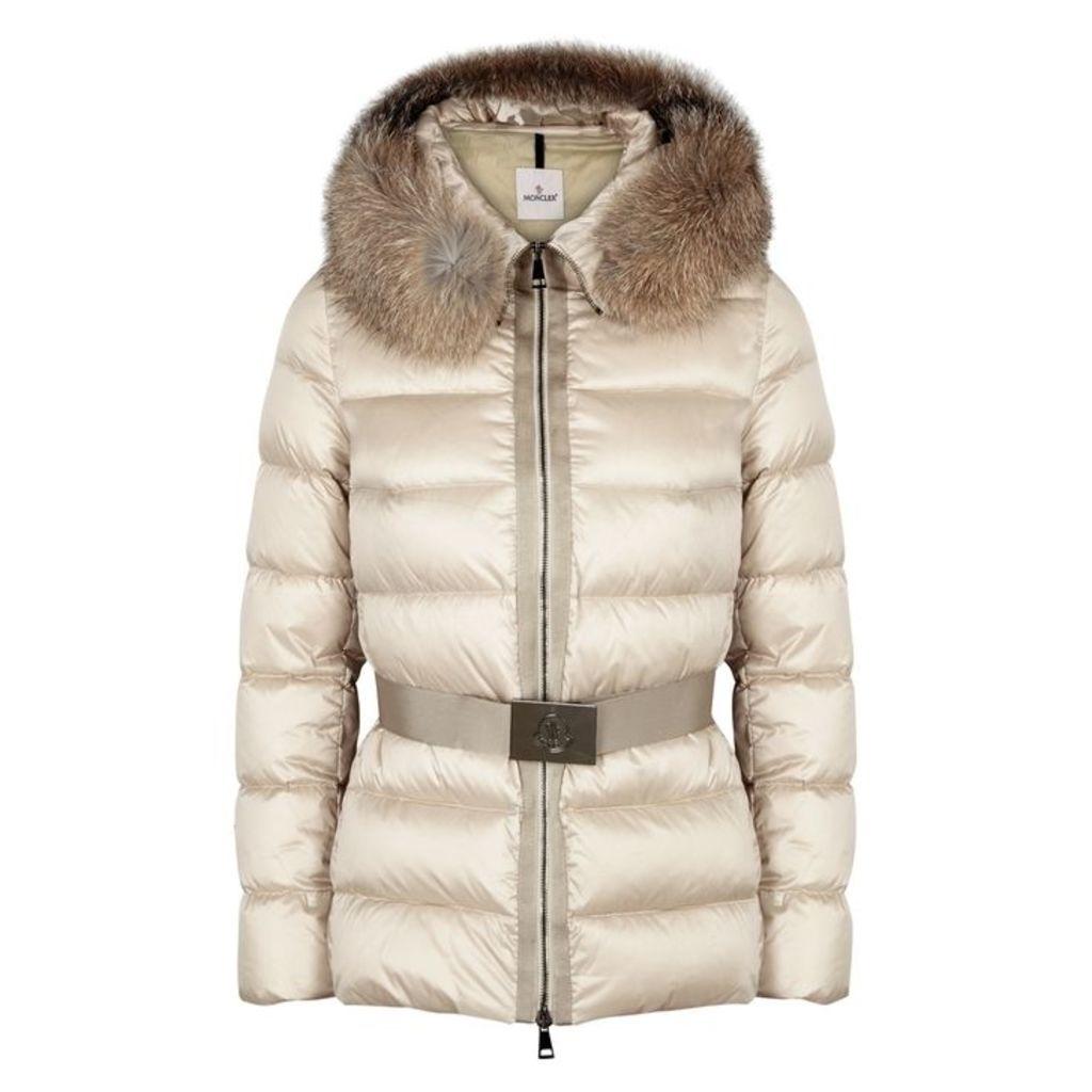 Moncler Tatie Pearl Fur-trimmed Jacket