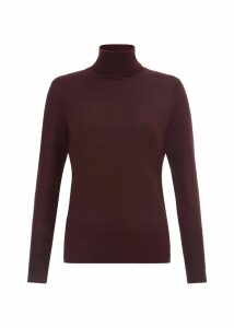 Lara Merino Wool Roll Neck Bordeaux
