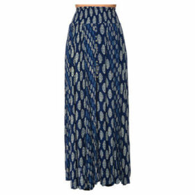 Miss June  Printed long skirt  women's Skirt in Blue