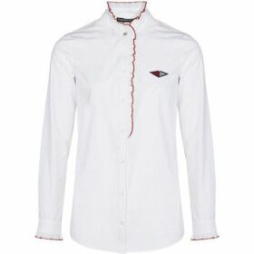 Mado Et Les Autres  Revisited white shirt with stand-up collar  women's Shirt in White
