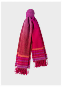 Women's Red Ombré Lambswool And Cashmere Scarf