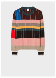 Anni Albers x Paul Smith - Women's Geometric Stripe Cashmere Sweater