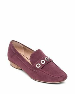 Bernardo Women's Jaden Round Toe Grommet Suede Loafers