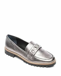Bernardo Women's Ozzy Round Toe Grommet Leather Loafers