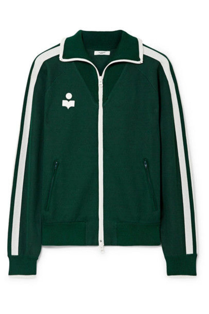 Isabel Marant Étoile - Darcey Striped Jersey Track Jacket - Forest green