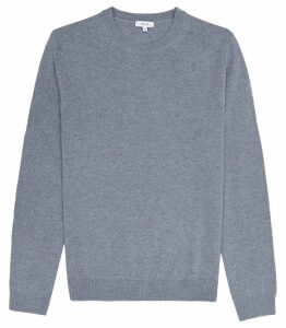 Reiss Bolton - Wool Alpaca Blend Jumper in Airforce Blue, Mens, Size XXL