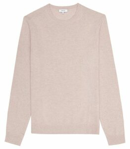 Reiss Bolton - Wool Alpaca Blend Jumper in Soft Pink, Mens, Size XXL