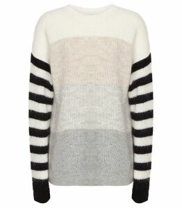 Reiss Haidee - Striped Chunky Knitted Jumper in Multi, Womens, Size XXL