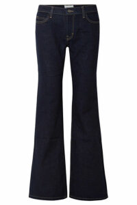 Current/Elliott - The Wray Mid-rise Flared Jeans - Dark denim