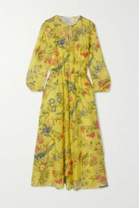 James Perse - Printed Cotton-voile Shirt - Green