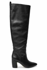 Sam Edelman - Hutton Leather Knee Boots - Black