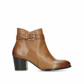 Womens Calm Nine West Ankle Boots 60 Mm Heel Tan, 6.5 UK