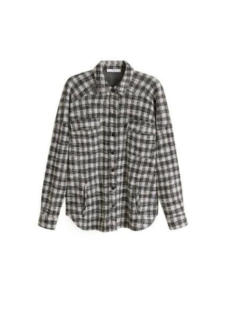 Check tweed shirt