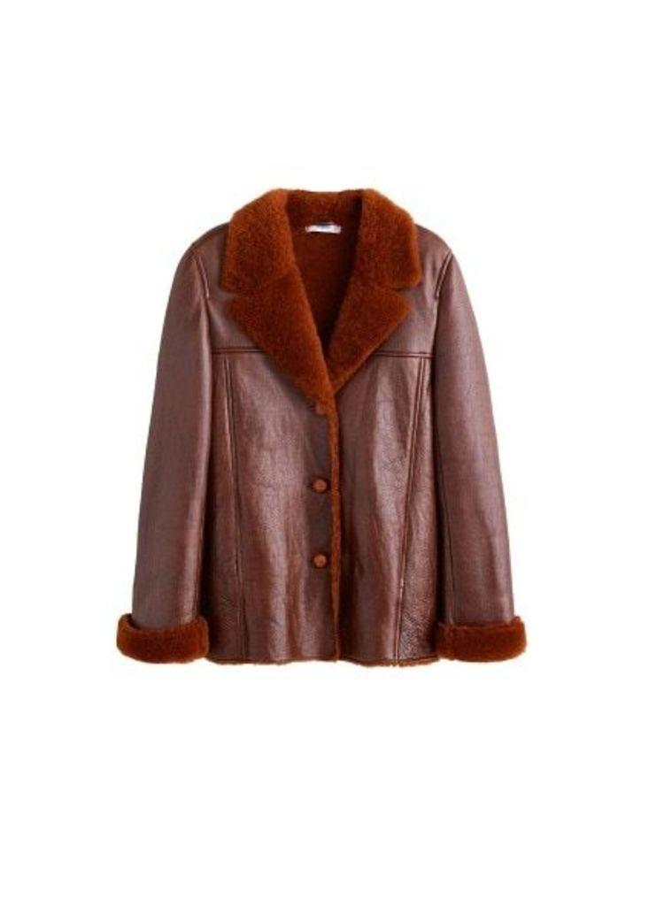 Sheepskin-lined leather jacket