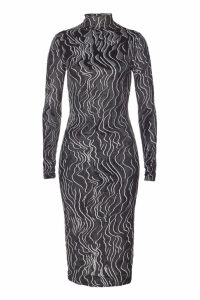 Kenzo Midi Dress with Turtleneck