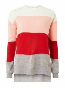 Womens **Tall Multi Striped Jumper- Multi Colour, Multi Colour