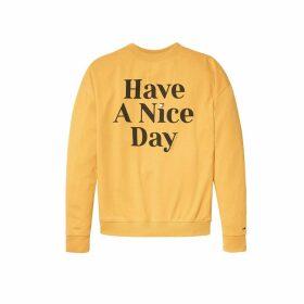 Have A Nice Day Slogan Sweatshirt
