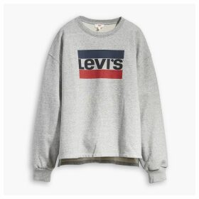 Graphic Long-Sleeved Crew Neck Sweatshirt
