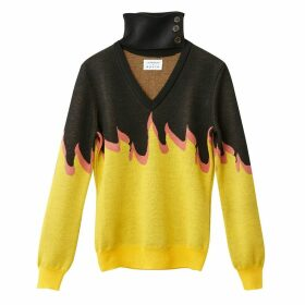 Choker Neck Flames Jumper