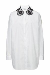 Moncler Genius 4 Moncler Simone Rocha Camicia Cotton Shirt with Lace