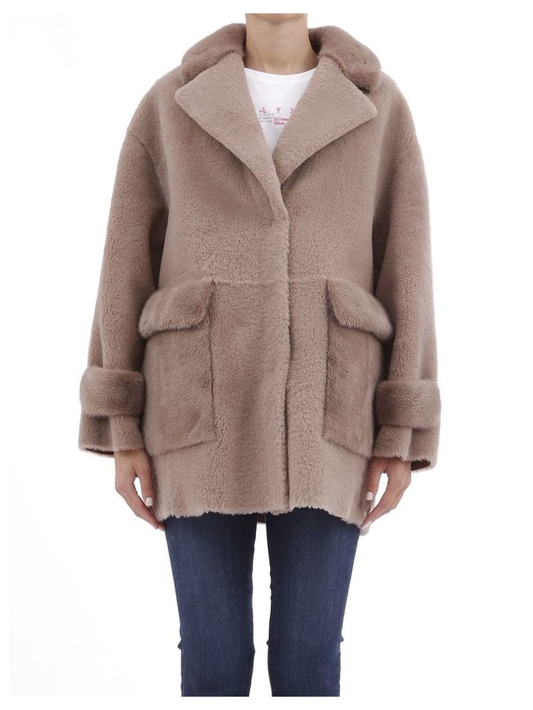 Blancha Jacket In Shearling And Mink