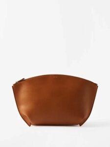 Albus Lumen - Nina Belted Cotton Dress - Womens - Dark Red