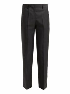 Masscob - Cleo Prince Of Wales-checked Wool-blend Trousers - Womens - Grey