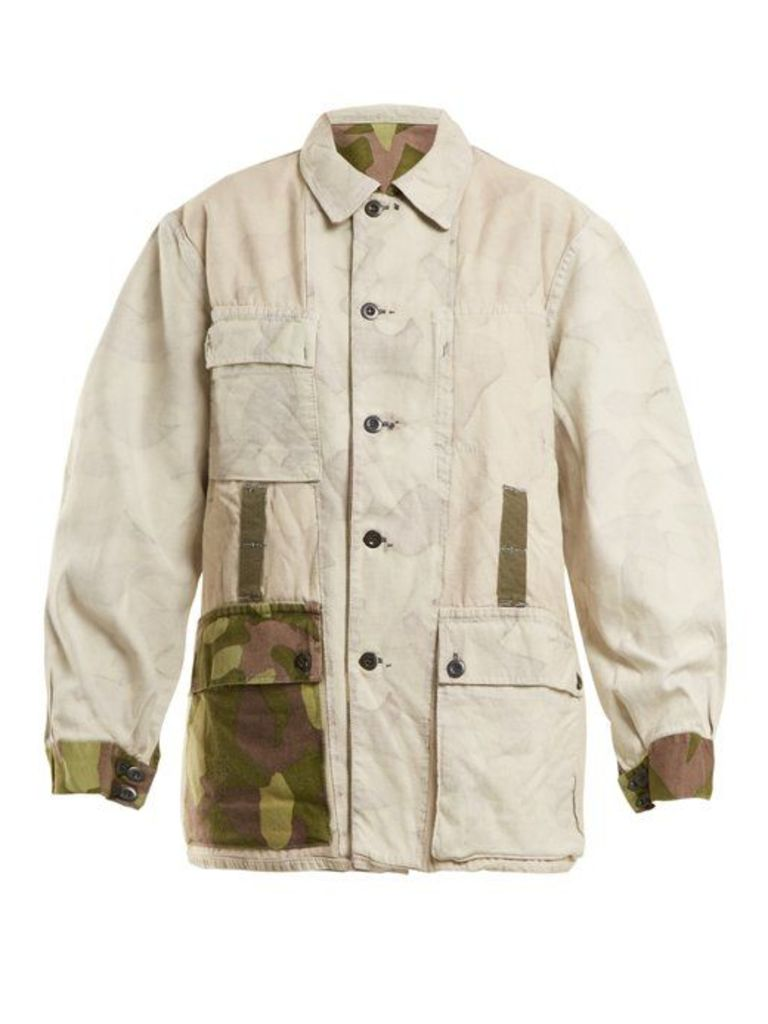 Myar - 1990s Fij91 Finnish Cotton Jacket - Womens - White Multi