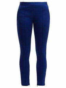 Miu Miu - Crystal-embellished Track Pants - Womens - Blue