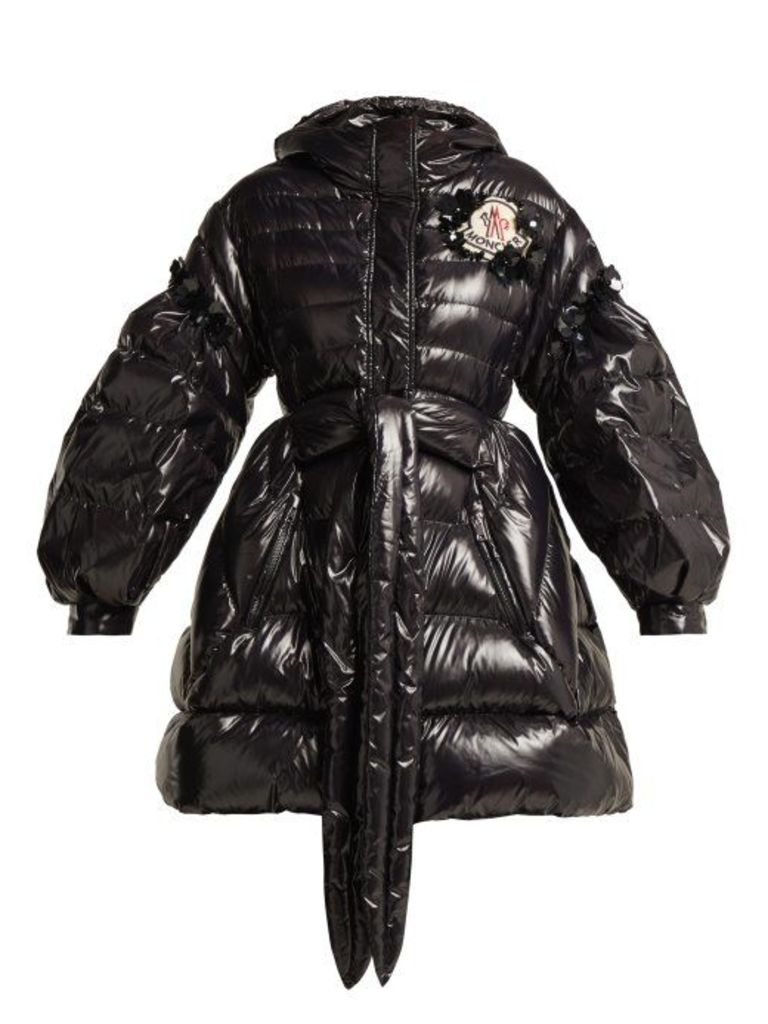 4 Moncler Simone Rocha - Elinor Down Filled Hooded Jacket - Womens - Black