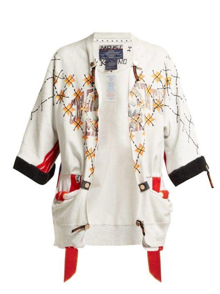 Noki - Customised Street Couture Cotton Jacket - Womens - Grey Multi