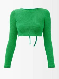 Fendi - Embroidered Cuff Cashmere Sweater - Womens - White
