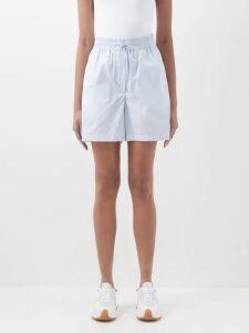Roksanda - Gianna Contrast-panel Stretch-crepe Dress - Womens - Blue