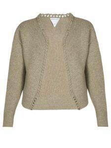 La Fetiche - Louise Darning Detail Wool Sweater - Womens - Black Multi