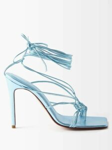 Valentino - Dragon Embroidered Double Breasted Leather Coat - Womens - Black Print