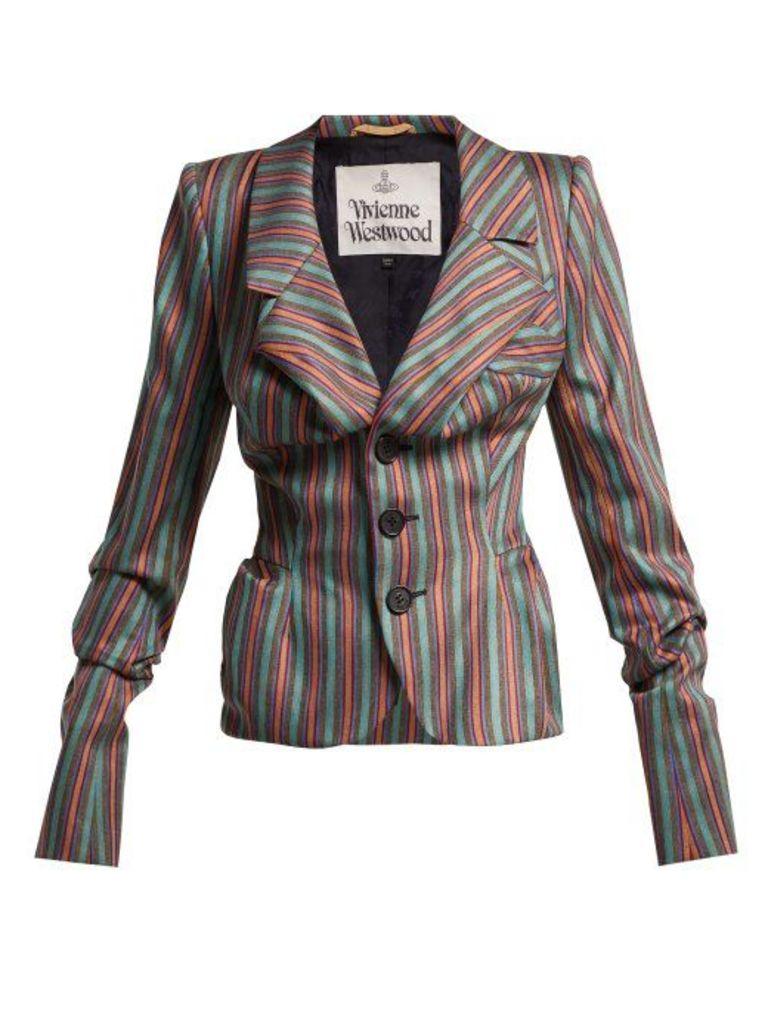 Vivienne Westwood - Striped Sateen Jacket - Womens - Multi