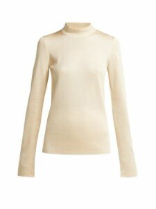 The Row - Jalin Knit Silk Sweater - Womens - Cream