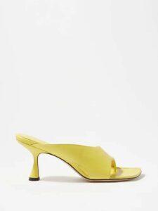 Joostricot - Peachskin Roll Neck Cotton Blend Sweater - Womens - Light Blue