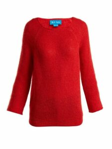 M.i.h Jeans - Bowen Boat Neck Mohair Blend Sweater - Womens - Red