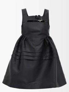 Raquel Diniz - Olivia Floral Print Silk Dress - Womens - Black Multi