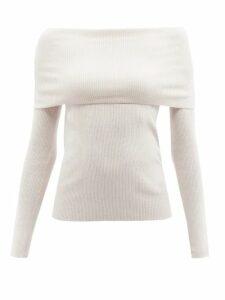 Joostricot - Striped Cotton Blend Roll Neck Sweater - Womens - Green Multi