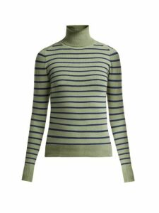 Joostricot - Striped Cotton-blend Roll-neck Sweater - Womens - Green Multi