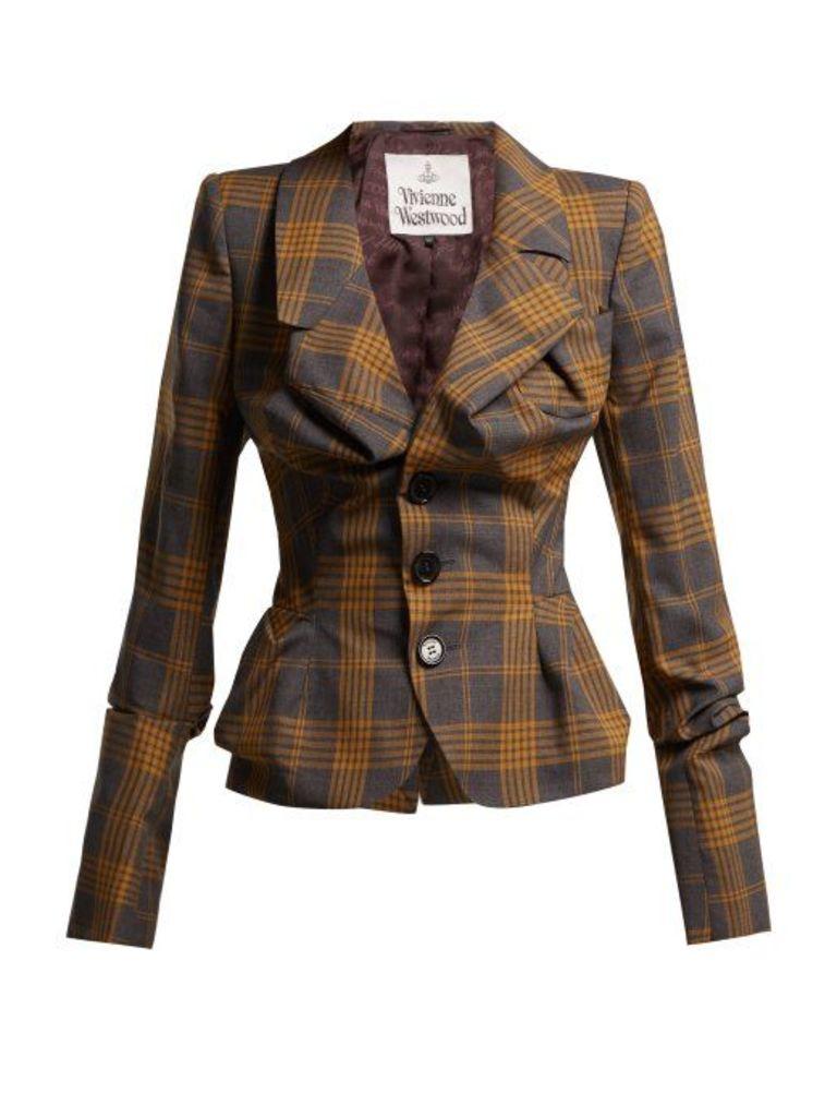 Vivienne Westwood - Alcoholic Tartan Wool Jacket - Womens - Grey