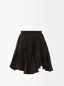 Rochas - Ruffle Trim Silk Chiffon Blouse - Womens - Beige