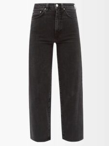 Luisa Beccaria - Houndstooth-print Silk-chiffon Gown - Womens - Green Multi