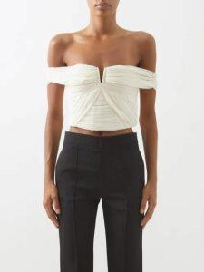 Raquel Diniz - Aurora Silk-velvet Wrap Dress - Womens - Dark Red