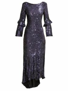 Maria Lucia Hohan - Polina Sequinned Chiffon Dress - Womens - Blue