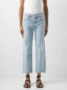 Raey - Skinny-strap Cotton-jersey Vest - Womens - Grey