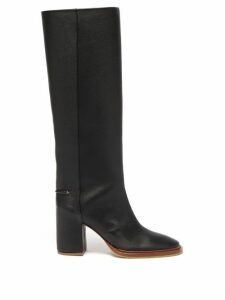 Vetements - Racer-embroidered Point-toe Pumps - Womens - Yellow Multi